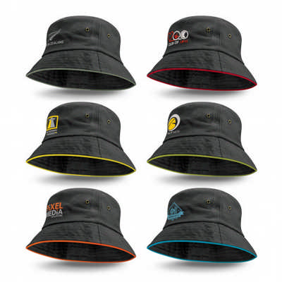 Bondi Bucket Hat - Coloured Sandwich Trim (115741_TRDZ)