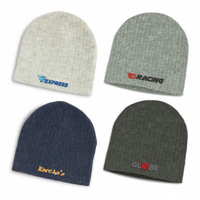 Nebraska Heather Cable Knit Beanie - (printed with 4 colour(s)) - (116221_TRDZ)