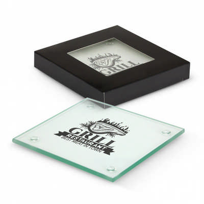 Venice Glass Coaster Set of 2 - Square (116394_TRDZ)