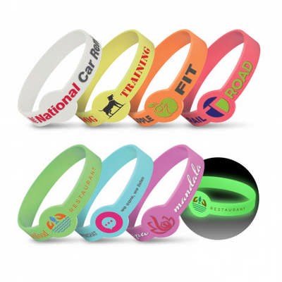 Xtra Silicone Wrist Band - Glow in the Dark (117057_TRDZ)
