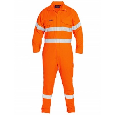 Tencate Flame Retardant Tecasafe Plus Taped Hi Vis Engineered Fr Vented Coverall BC8085T_BSY