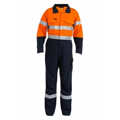 Tencate Flame Retardant Tecasafe Plus Taped Two Tone Hi Vis Engineered Fr Vented Coverall BC8086T_BSY