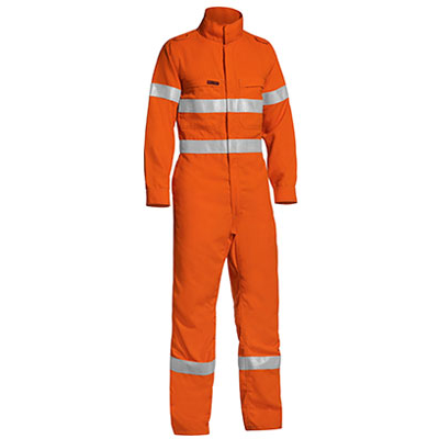 Tencate Flame Retardant Tecasafe Plus Taped Two Tone Hi Vis Lightweight Fr Non Vented Engineered Coverall With Zip C BC8178T_BSY