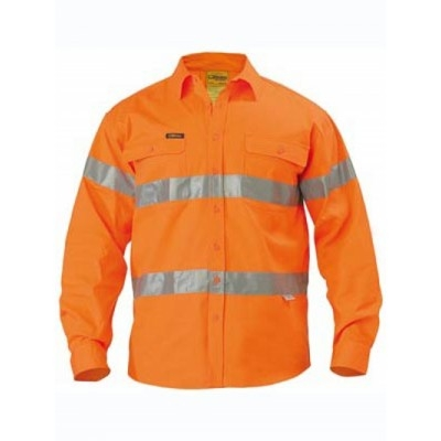 3M Taped Hi Vis Drill Shirt - Long Sleeve BT6482_BSY