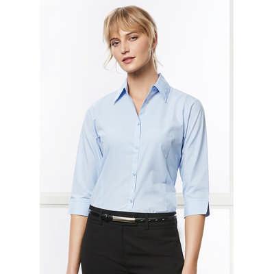 Ladies Micro Check 3/4 Sleeve Shirt (LB8200_BIZ)