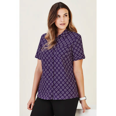Womens Florence Daisy Print Short Sleeve Shirt CS948LS_CARE