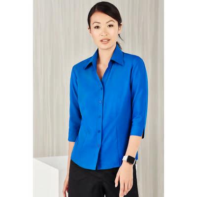 Ladies Plain Oasis 34 Sleeve Shirt LB3600_CARE