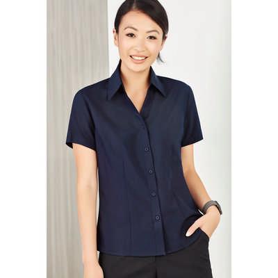 Ladies Plain Oasis Short Sleeve Shirt LB3601_CARE