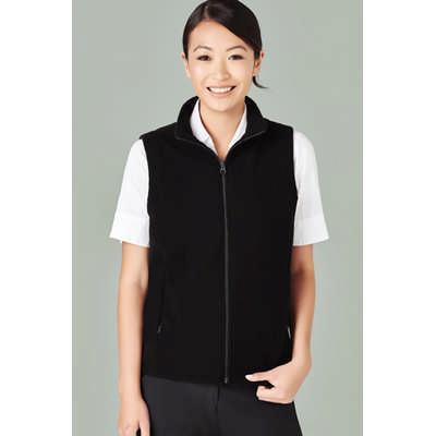 Ladies Plain Micro Fleece Vest