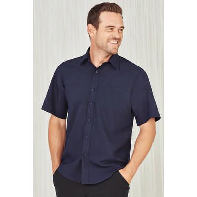 Mens Plain Oasis Short Sleeve Shirt SH3603_CARE