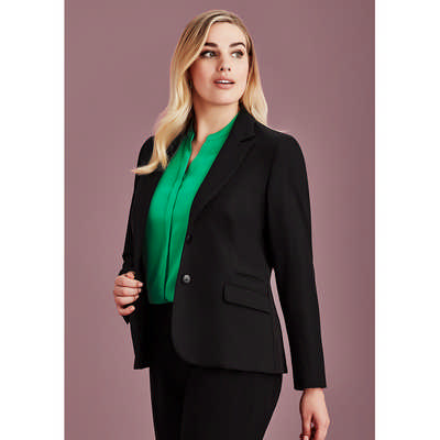Womens Two Button Mid Length Jacket (60719_BZC)