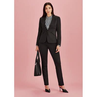 Womens Collarless Jacket (61610_BZC)