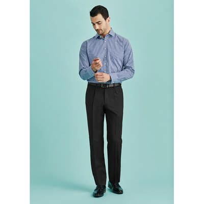 Mens One Pleat Pant Regular (70111R_BZC)