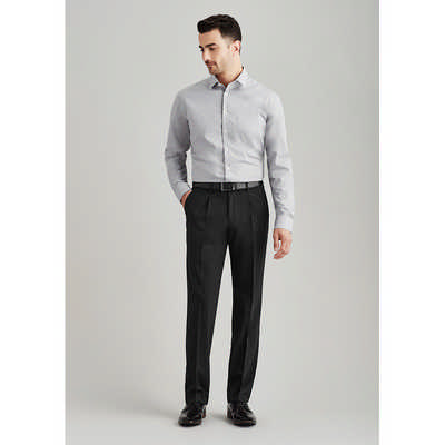 Mens One Pleat Pant Regular (74011R_BZC)