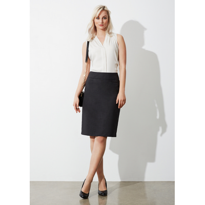 Ladies Classic Knee Length Skirt (BS128LS_BIZNZ)
