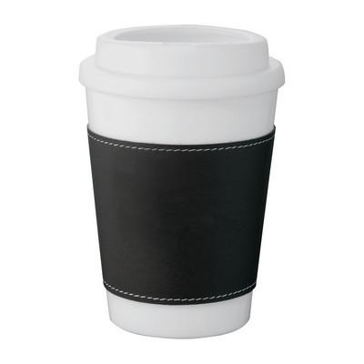 Double-Walled White Tumbler - Black Slee (4035BK_BMV)