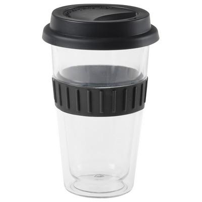 Plastic Double-Walled Mug - Black (4037BK_BMV)