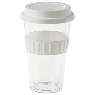 Plastic Double-Walled Mug - White (4037WH_BMV)