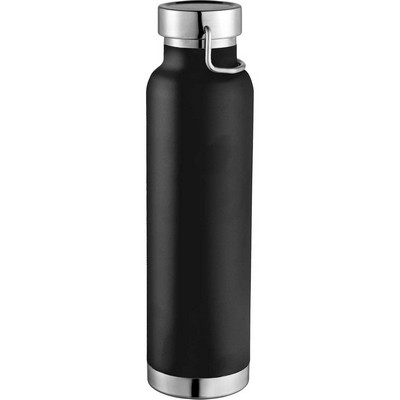 Thor Copper Vacuum Insulated Bottle - Black (4075BK_BMV)