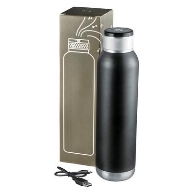 Soundwave Copper Vacuum Audio Bottle - Black (4091BK_BMV)