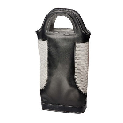 Two Bottle Wine Carrier - Black/Grey