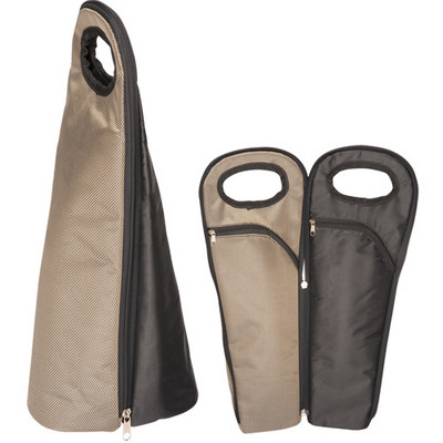 Two Bottle Wine Carrier - Bronze/Black