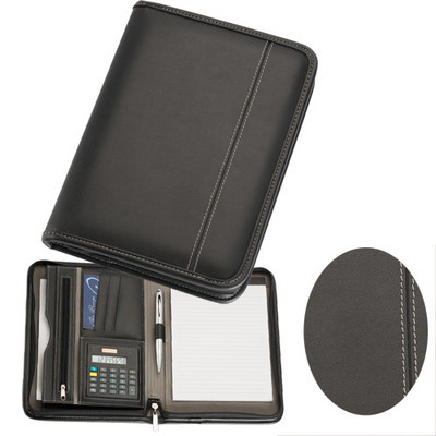 A5 Zippered Compendium with Calculator (9022_BMV)