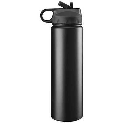 Trekk Double Walled Stainless Steel Drink Bottle - Black (TK1018BK_BMV)