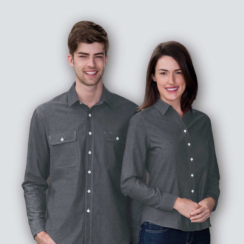 The Montreal Chambray Shirt - Womens WTMC_BMV