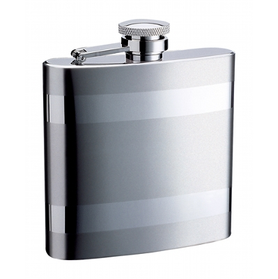 6Oz Striped Hip Flask A1802100_AC
