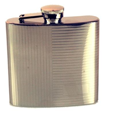 6Oz Pin Stripe Hip Flask A1802300_AC