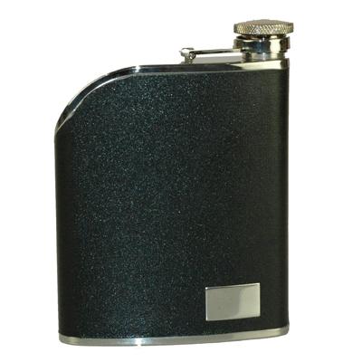 6Oz Black Leather Hip Flask A1802500_AC