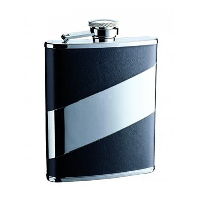 6Oz Mirror/Leather Hip Flask A1803000_AC