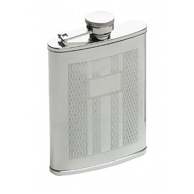 6Oz Etched Design Hip Flask A1804600_AC