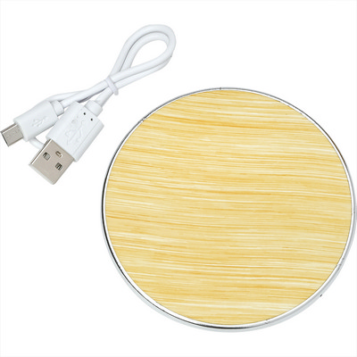 Rustic Wireless Charging Pad - Includes Decoration SM-2804_BUL