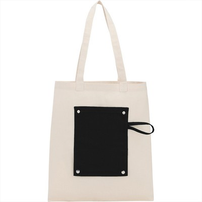 6oz Cotton Canvas Packable Snap Tote - Includes Decoration SM-5832_BUL