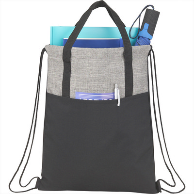 Cycle Recycled Drawstring Bag - Includes Decoration SM-5893_BUL