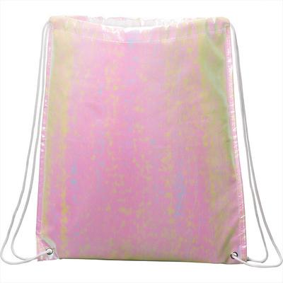 Iridescent Non-Woven Drawstring Bag - Includes Decoration SM-5899_BUL