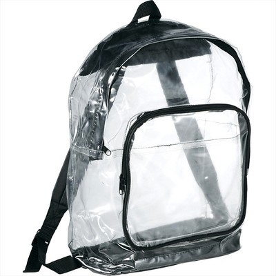 Rally Clear Backpack - Includes Decoration SM-7300_BUL