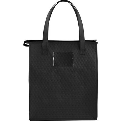 Deluxe Non-Woven Insulated Grocery Tote - Includes Decoration SM-7722_BUL