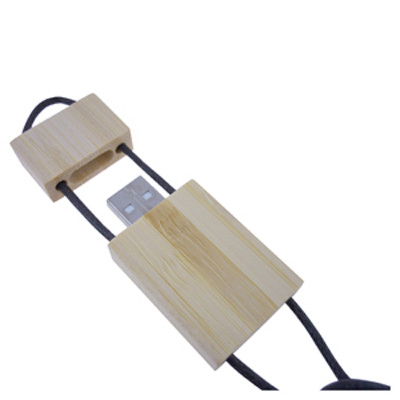 Bamboo Lanyard Flash Drive 16GB