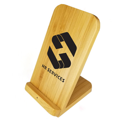 Stirling Fast Wireless Charge Bamboo Stand - (printed with 1 colour(s)) AR858_CAPR