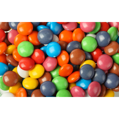 candy bag - 40g rainbow buttons