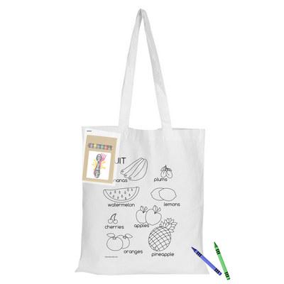 Colouring White Calico Bag No Gusset (CCB005_DEX)