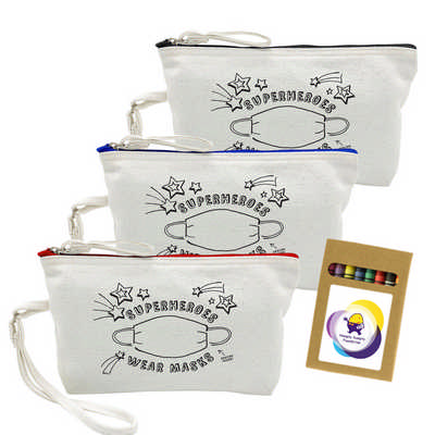 Colouring Canvas Cosmetic Bag (CCB008_DEX)