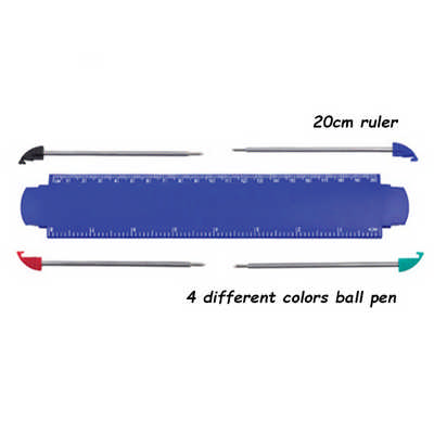 Ruler with 4pcs Ball Pen (DS973_DEX)