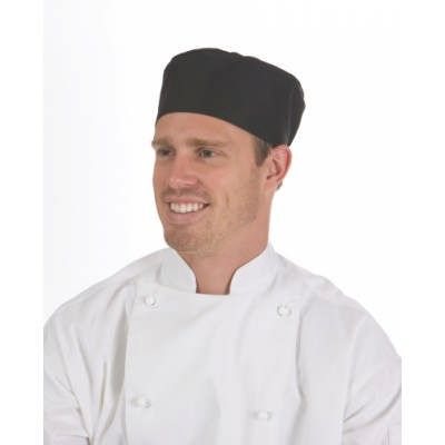 200gsm Polyester Cotton Flat Top Chef Hat 1602_DNC