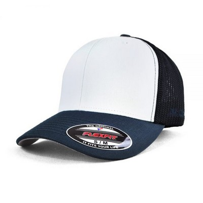 FLEXFIT TRUCKER MESH - WHITE FRONT PANELS (6511W_GRACE)