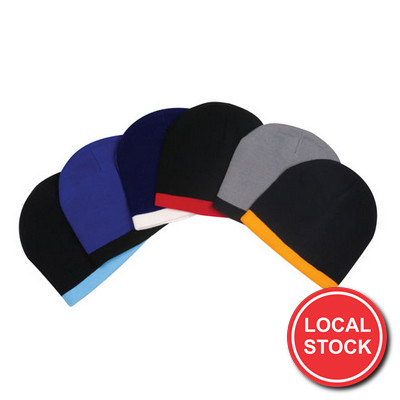 Local Stock - Acrylic Two-Tone Beanie (AH097_GRACE)