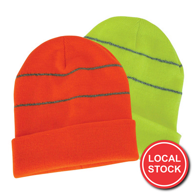 Local Stock - Beanie With Reflective Trims (AH769_GRACE)